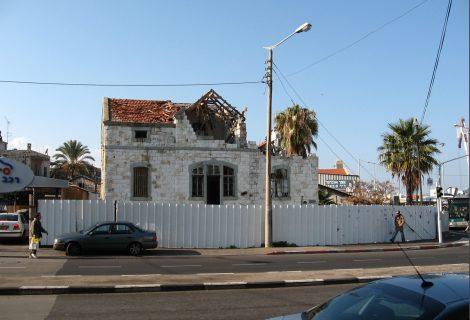 שחזור בניין הרוס בשדרות בן גוריון בחיפה
