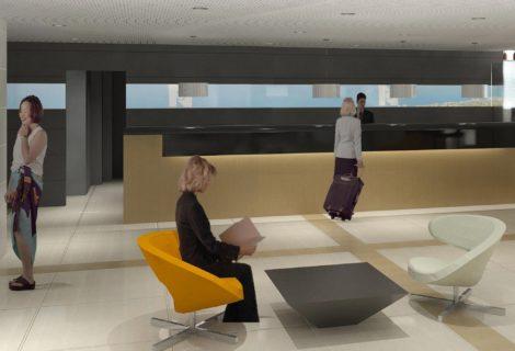 לובי מלון נוף – מרכז הכרמל