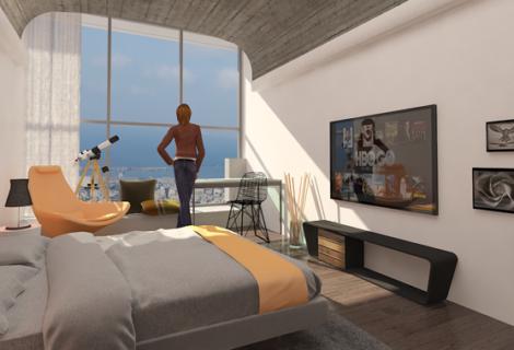 קומת חדרים – מלון מוף